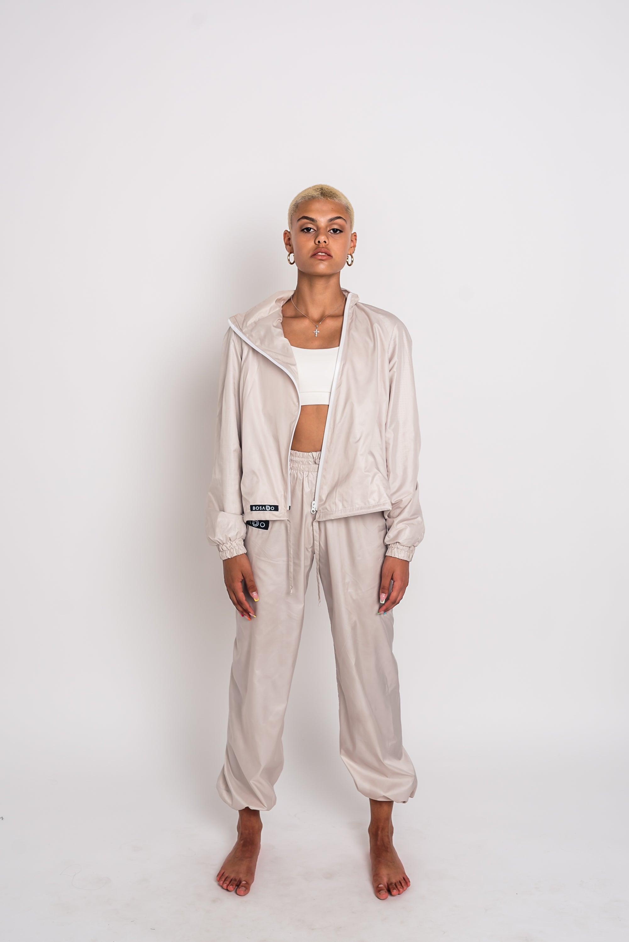 URBAN SWAN COLLECTION | Milk color sports suit with pants + shorts