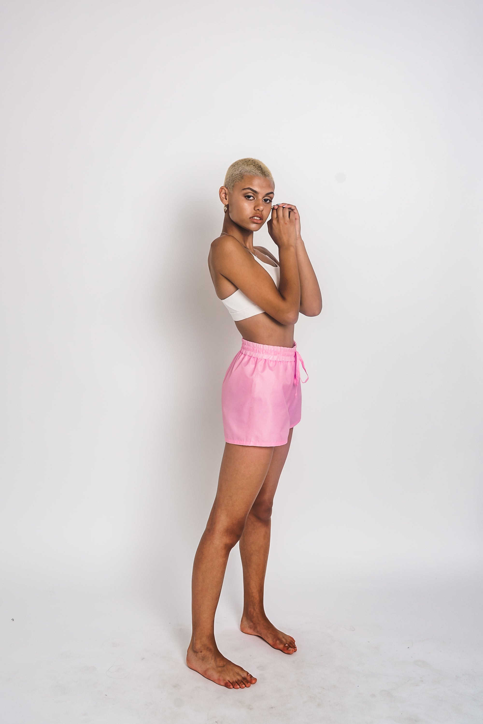 URBAN SWAN COLLECTION | Heat-retaining candy pink color shorts