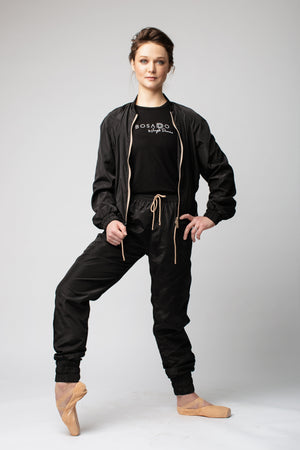 Bosaddo by Jurgita Dronina collection | Black sports suit with pants