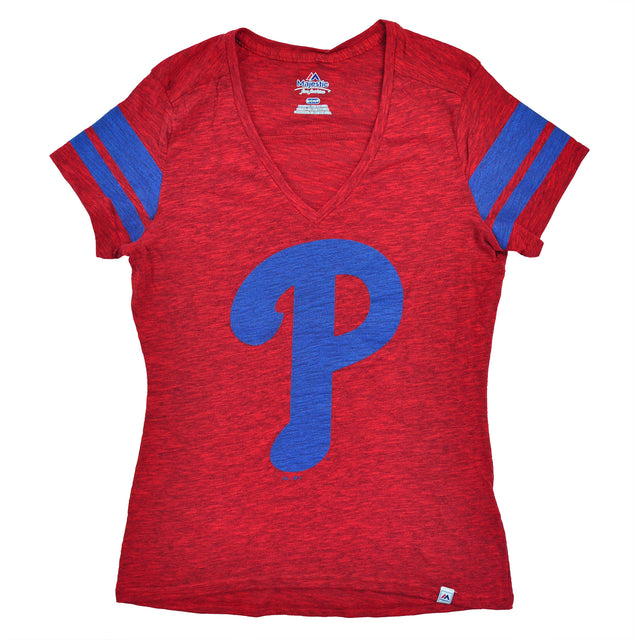 Phillies Check the Tape Ladies Vneck