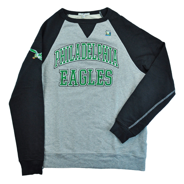 Philadelphia Eagles Text Baseball Style Sweatshirt