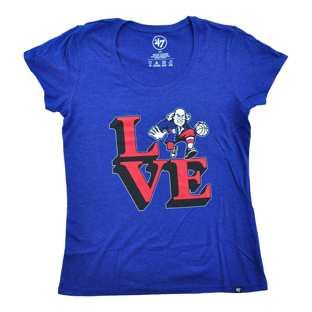 76ers Club Tee scoop Neck Womens