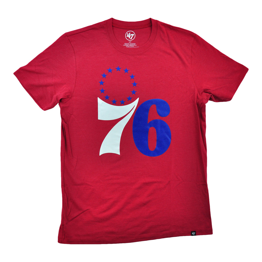 Sixers 76stars Blue/white Logo Club Tee