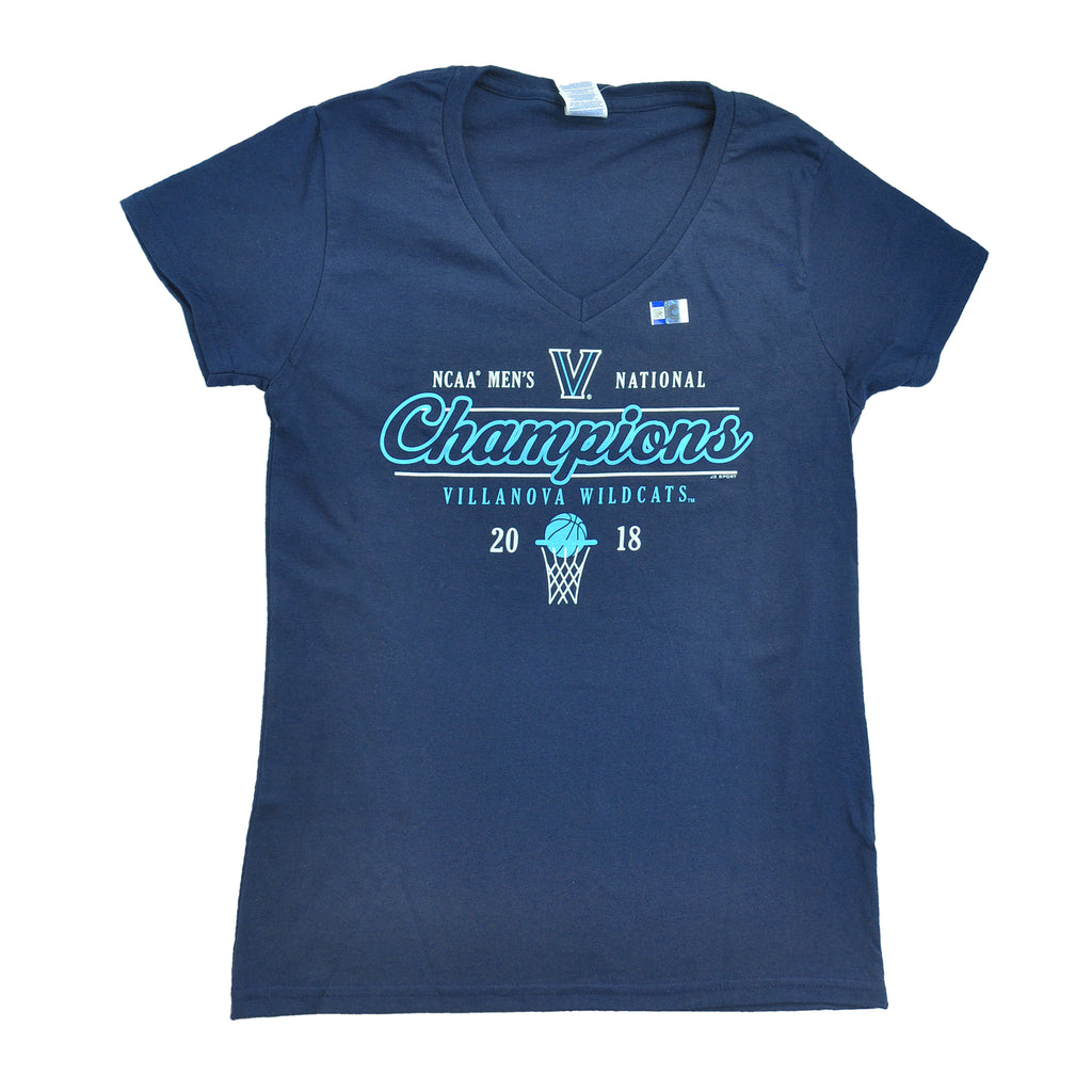 Villanova Champs 2018 Ladies Vneck