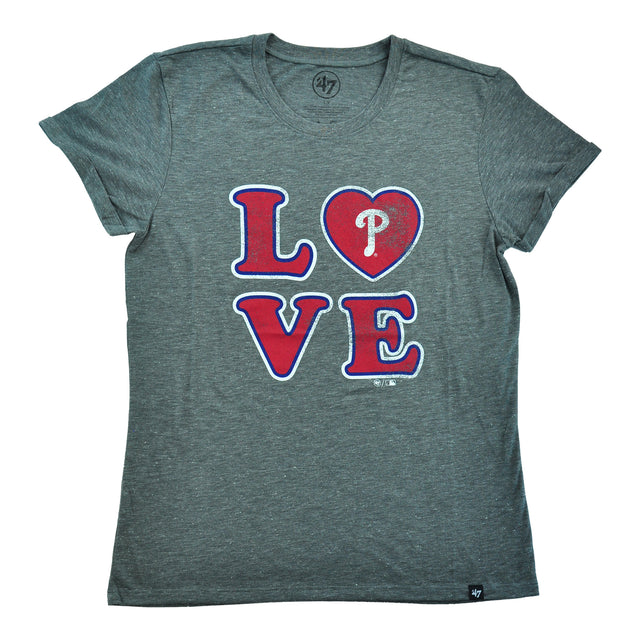 Phillies LOVE Triblend Match Hero Ladies