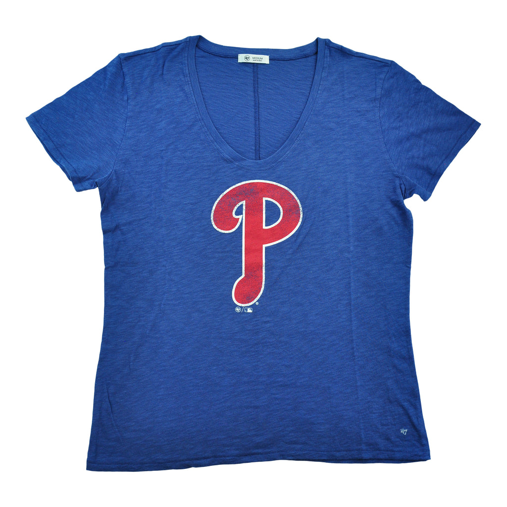 Phillies Grit Tidal Blue Ladies Vneck