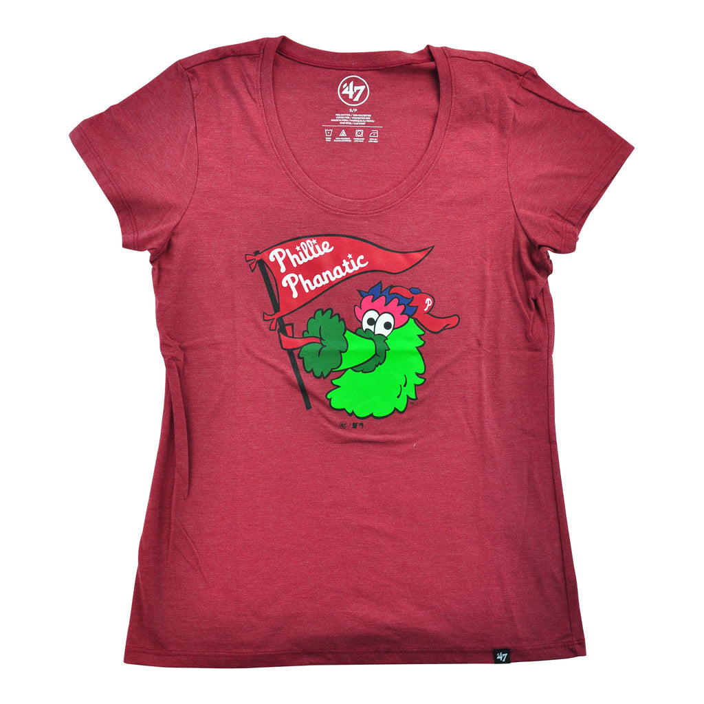 Phillies Club Scoop Neck Tee Cardinal
