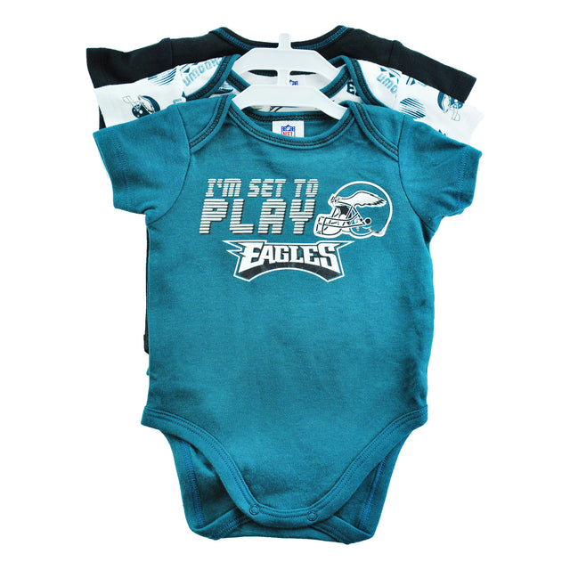 Eagles Walk, Crawl, Tackle 3 pc Onesie