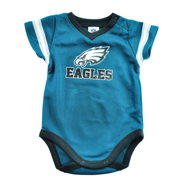 Eagles Dazzle Stripe Sleeve Onesie