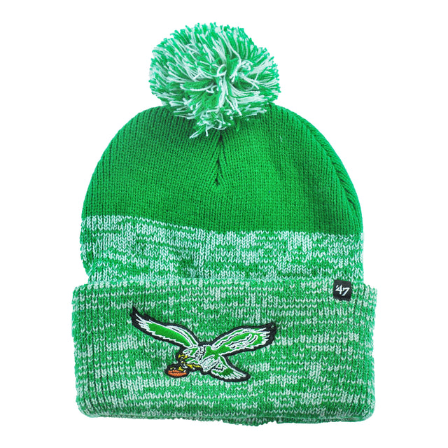 Eagles Legacy Static Cuff Knit Hat with Pom