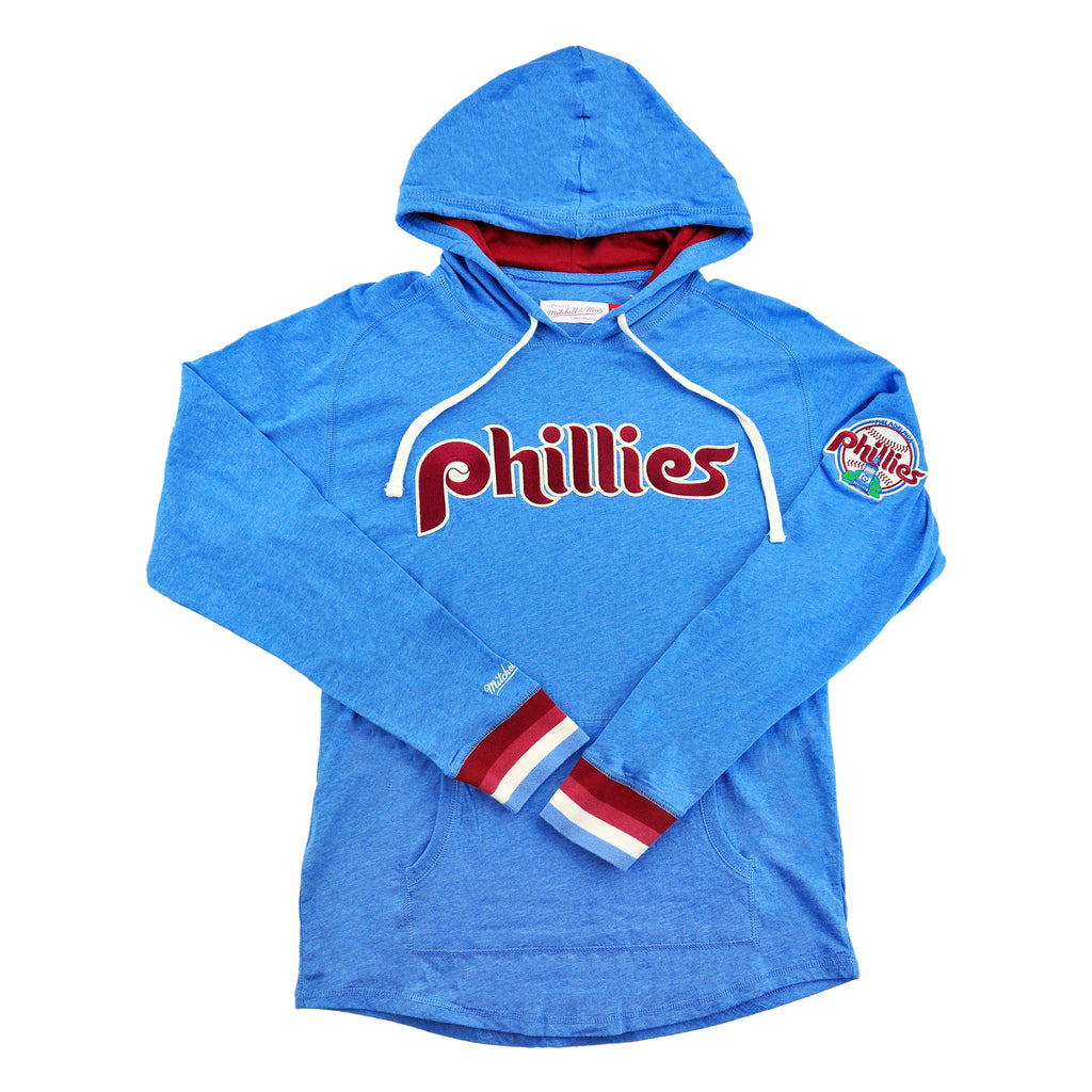 Phillies Lightweight Hooded L/S Blue