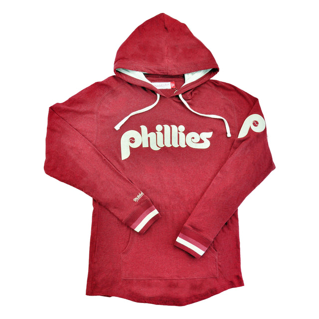 Phillies Lightweight Hooded L/S Cardinal