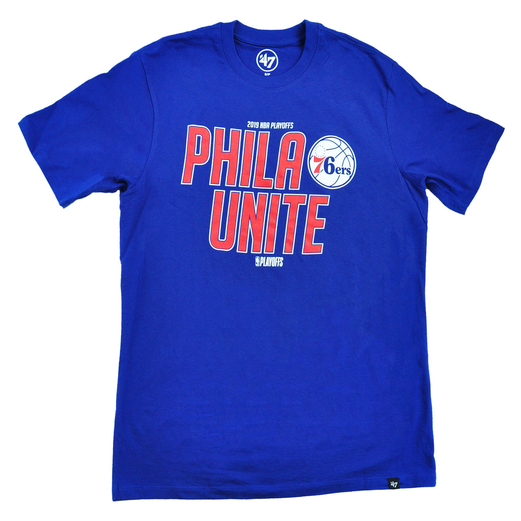 90a95072d 76ers Royal Playoff Super Rival Tee