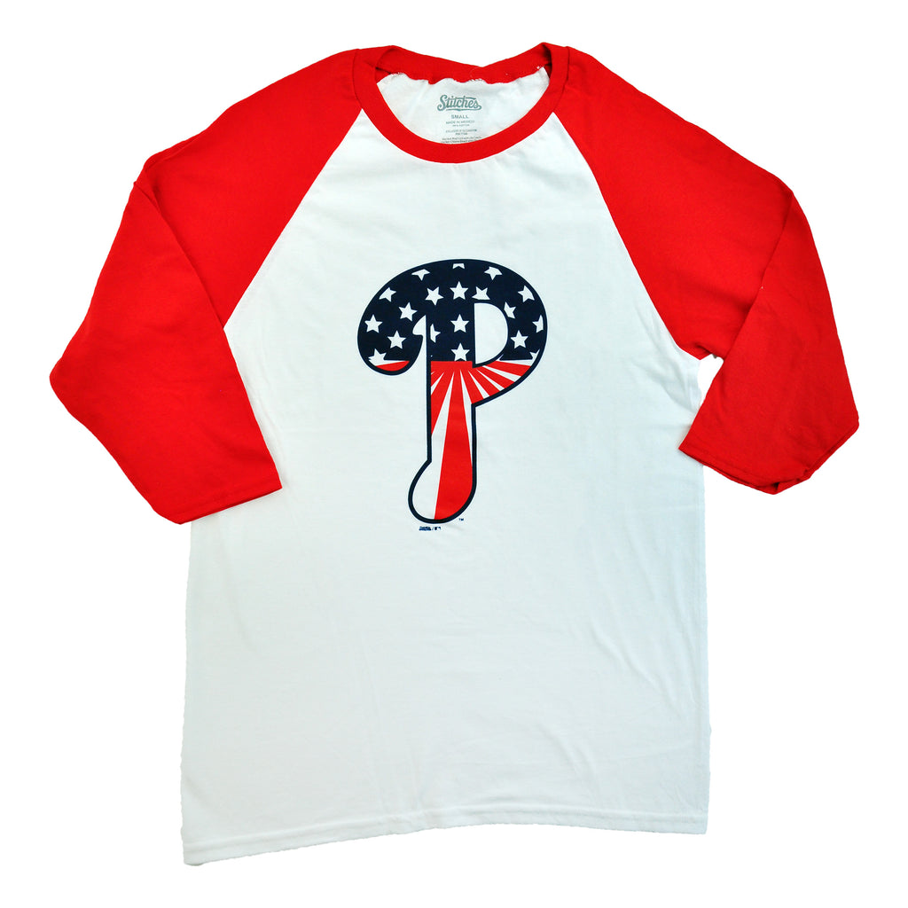 Phillies Stars/Stripes 3/4 SLV Raglan