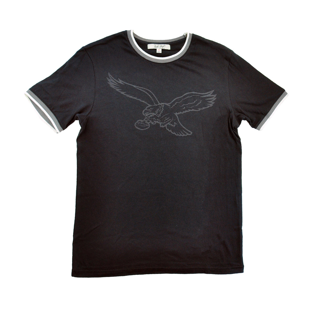 Eagles Subtle Outline Ringer Tee
