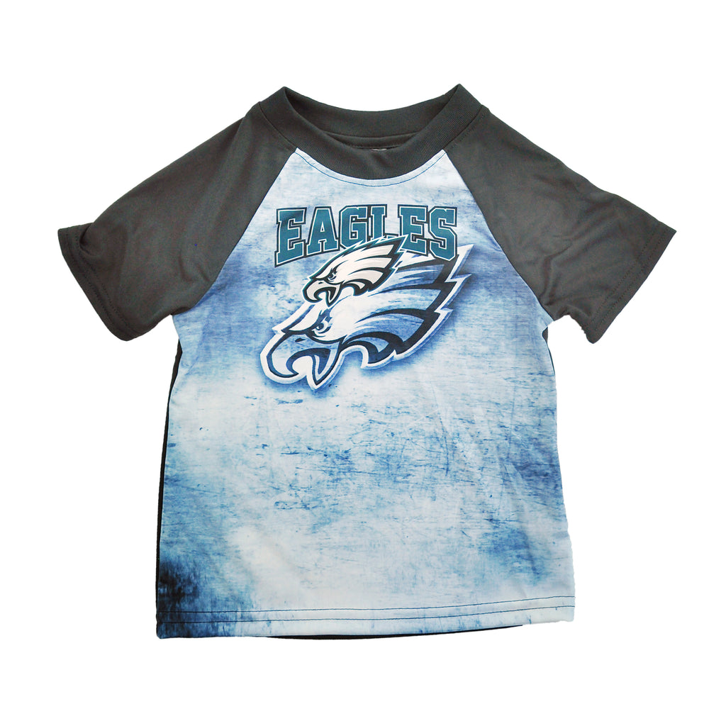 Eagles Mottled Silky Tee Green/Blk