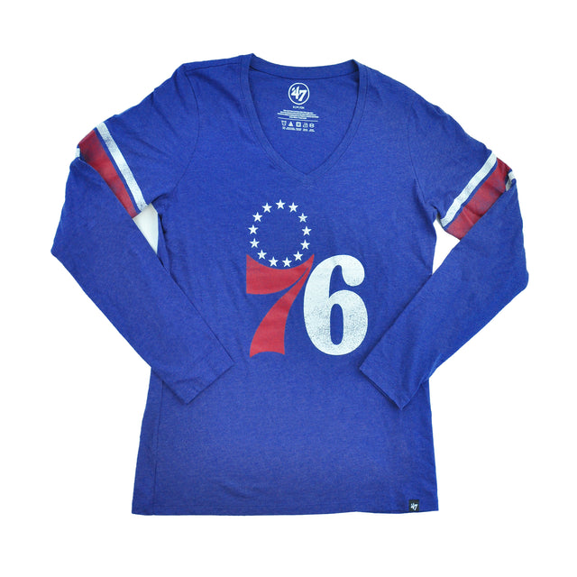 76ers Royal D Imprint Club STRP LS Womens