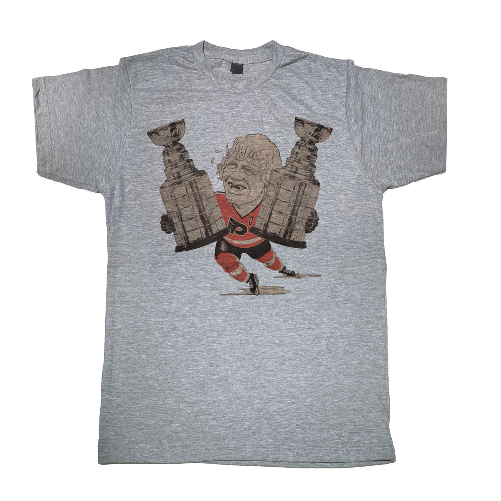 Bobby Clarke Flyers Stanley Cup Champs Tee