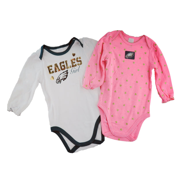Eagles Girl 2 pk Onesies