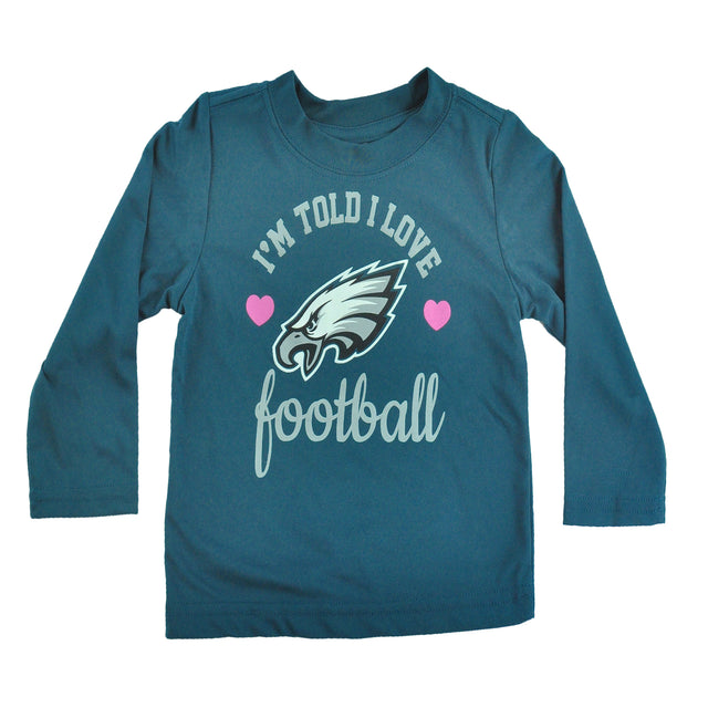 Girls Love Eagles L/S Tee