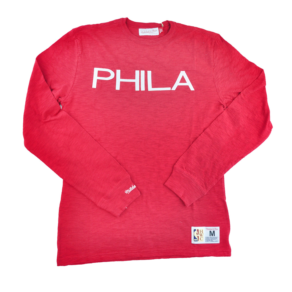 Sixers PHILA Wordmark L/S Slub