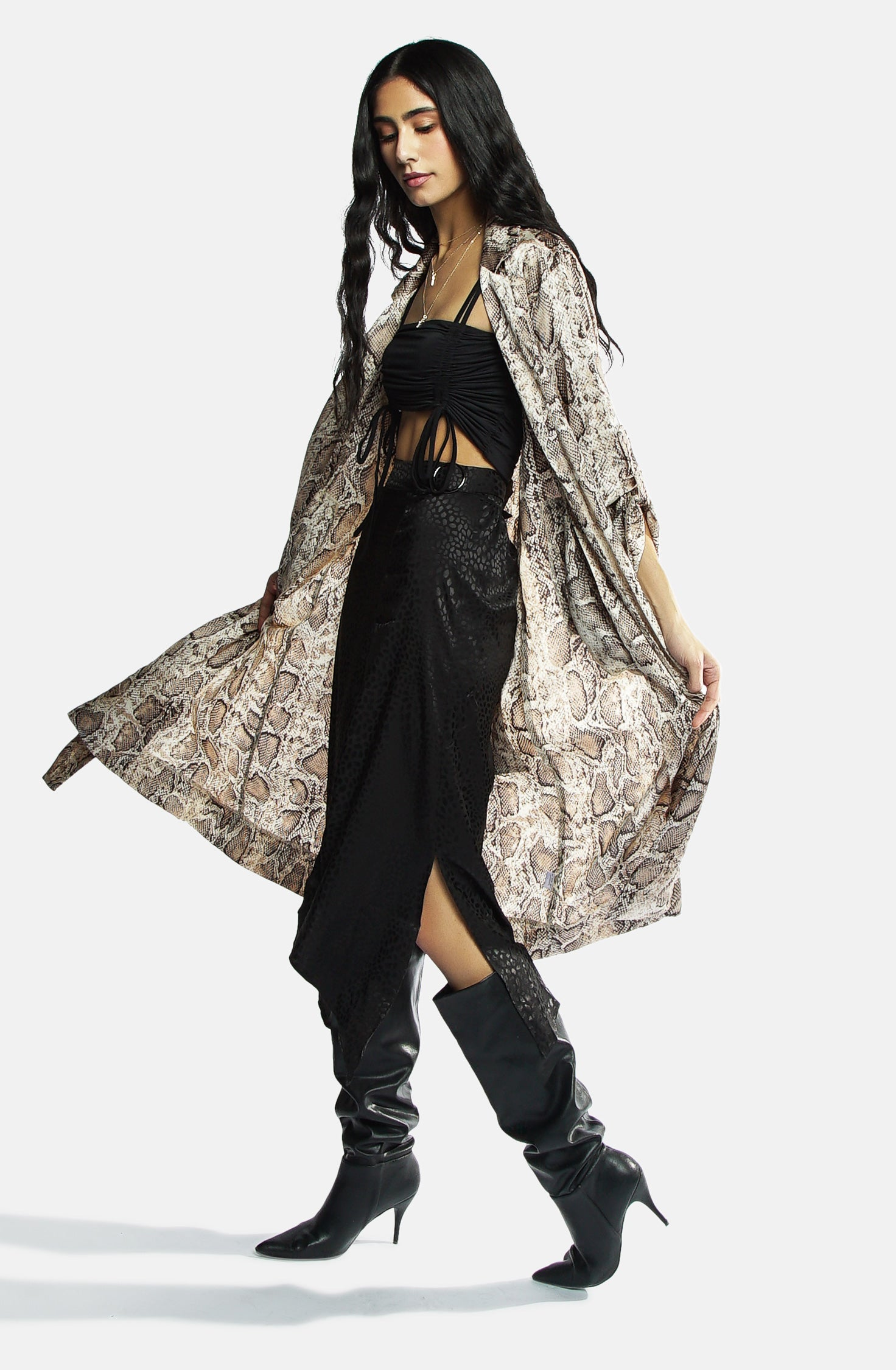 Sasha Silk trench