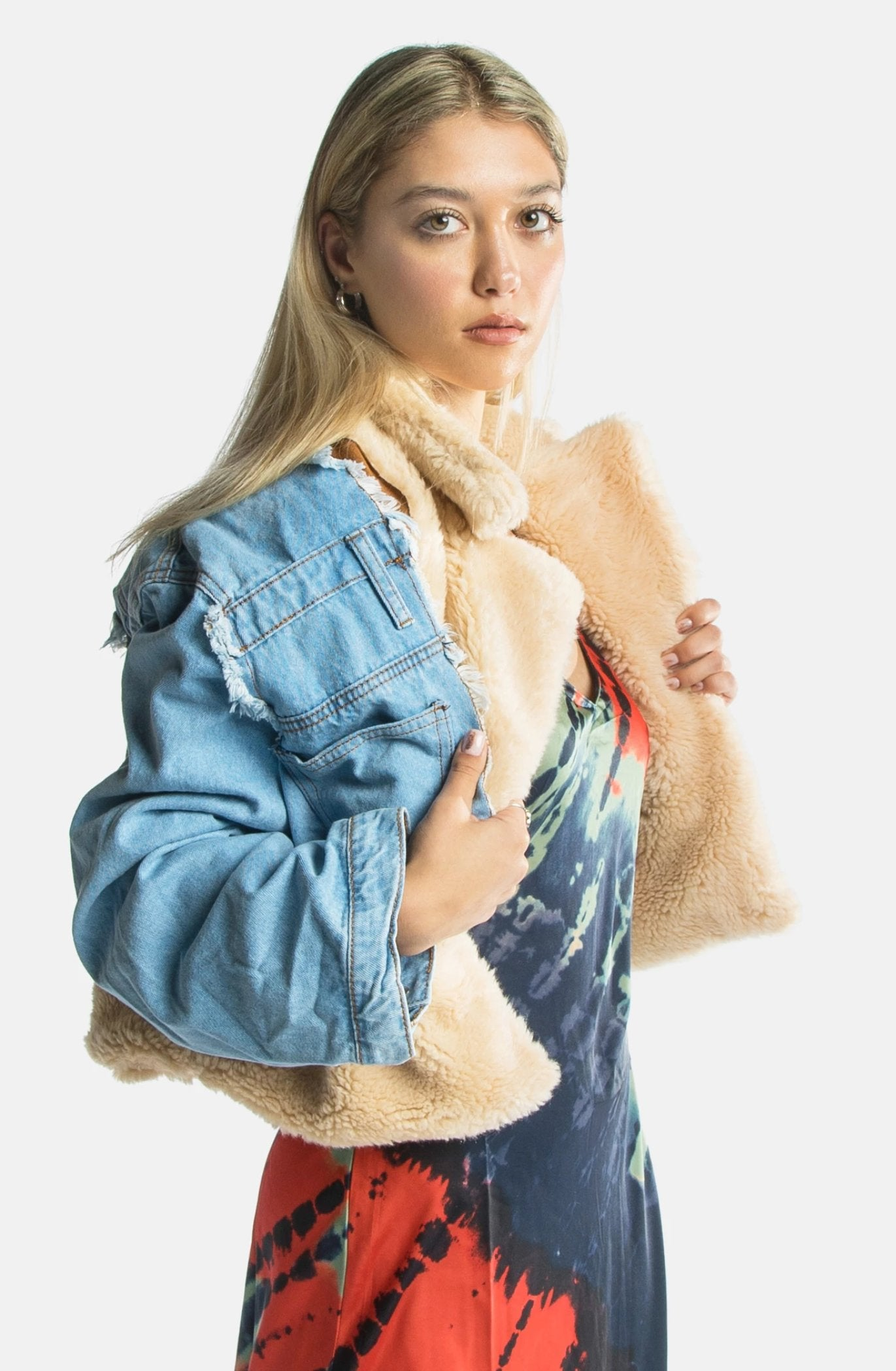 Maria Denim Shearling Jacket
