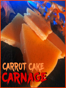 CARROT CAKE CARNAGE SCENTED WAX BARK