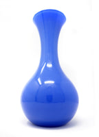 Large Vetri Murano Blue Glass Vase