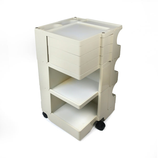 White Boby Cart by Joe Colombo for Bieffeplast