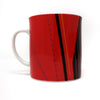 Set of Four Vintage Studio Nova Jazz Red Mugs