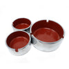 Set of Three Isamu Kenmochi Chrome & Plastic Ashtrays