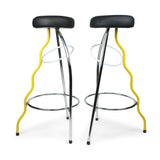 Yellow Duplex Bar Stool by Javier Mariscal for BD Barcelona