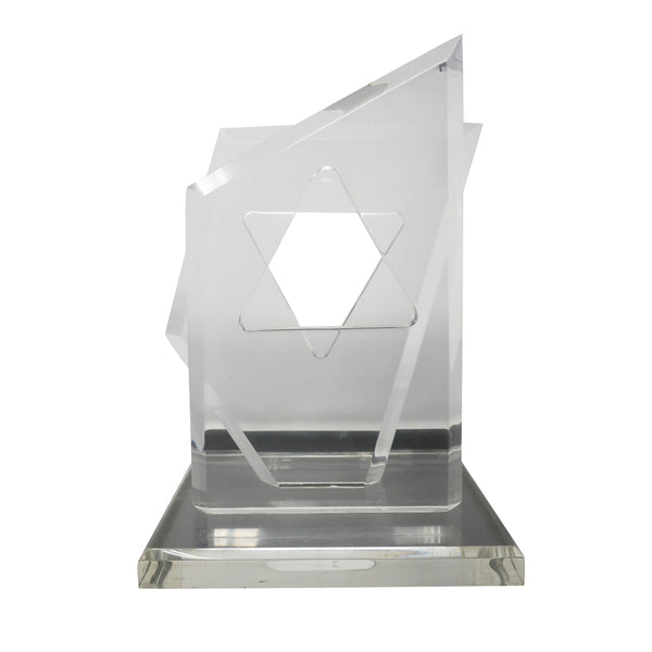 Lucite Star of David Sculpture by Hivo Van Teal