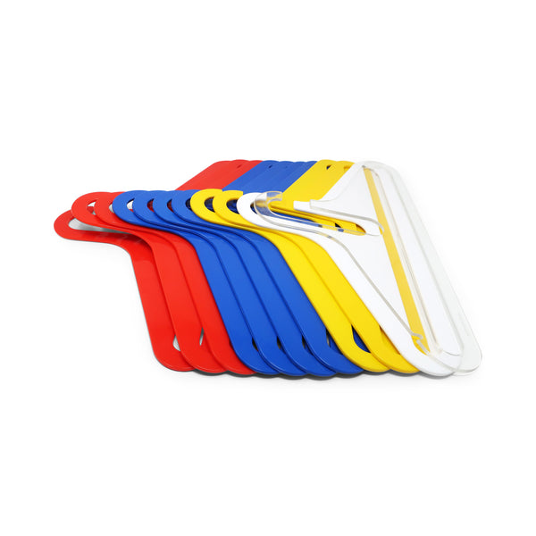 1970s Multicolored Plastic Clothes Hangers - Set of 11