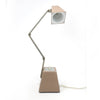 Vintage Tan Metal Folding Task Lamp