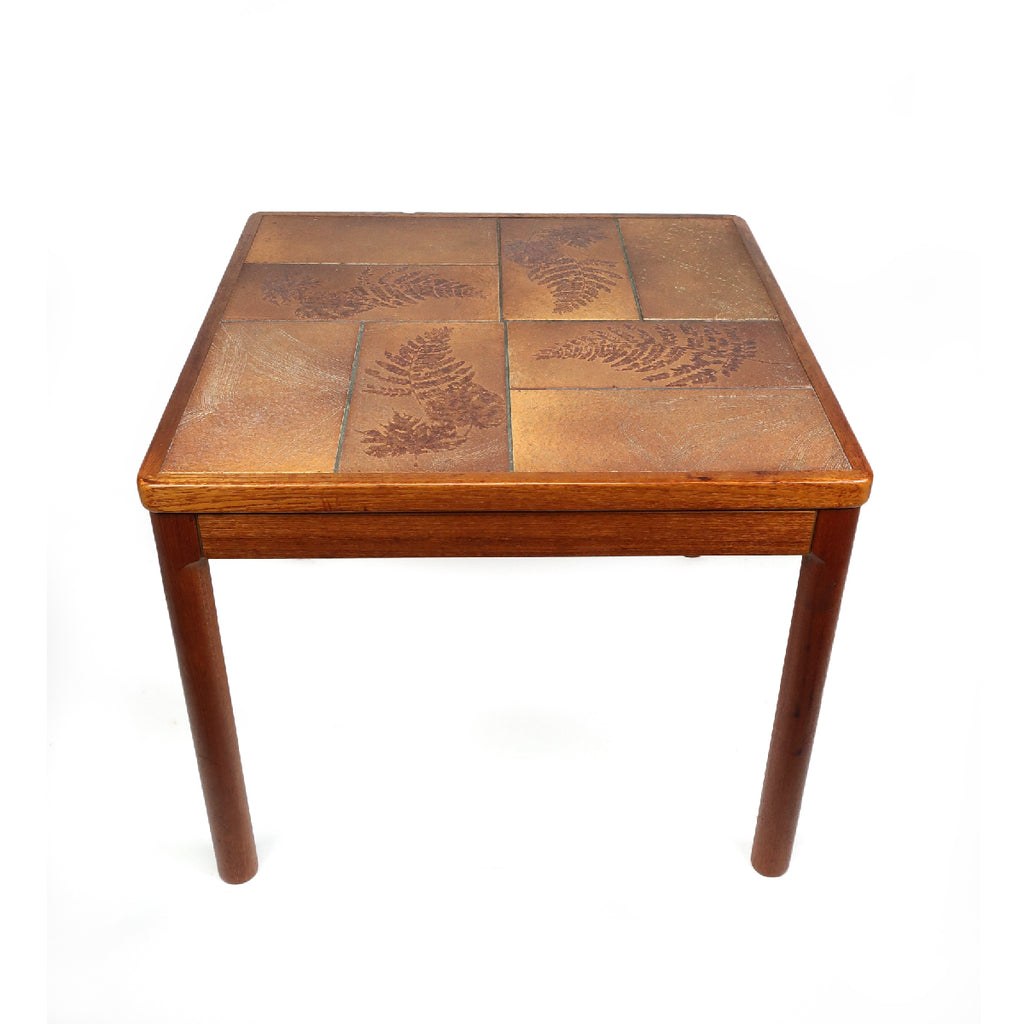 Danish Modern Teak and Tile Side Table by Trioh