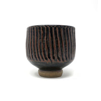 Handmade Black Striped Ceramic Vase
