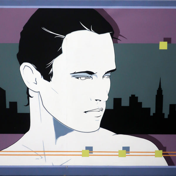 NYC Skyline Painting In The Manner of Patrick Nagel (1997)