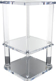 Vintage Lucite Side Table and Shelf