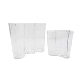 Set of Two Alvar Aalto for Iittala Glass Vases