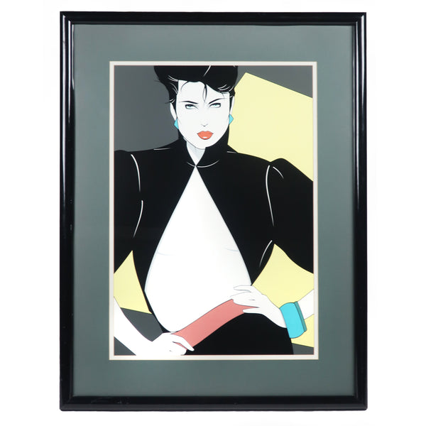 "Framed Patrick Nagel ""Open Jacket"" Lithograph (1992)"