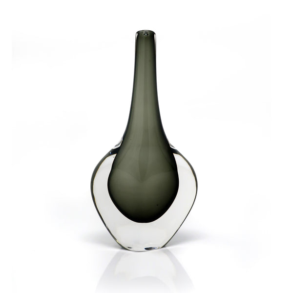 Tall Smoked Glass Vase by Nils Landberg for Orrefors