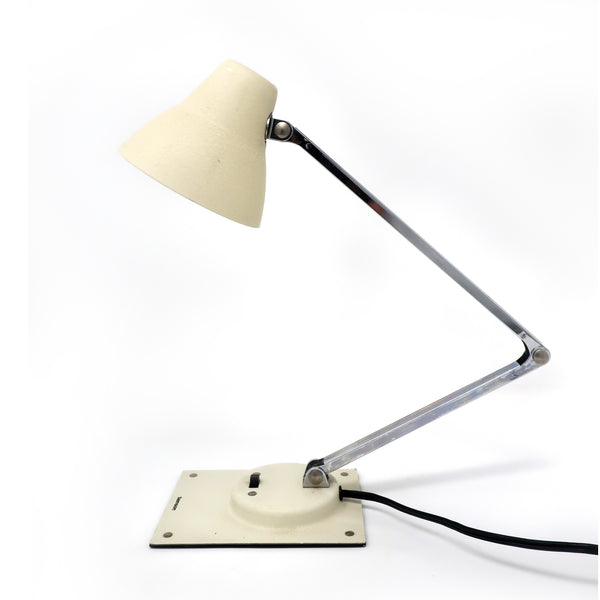 Vintage White Tensor Folding Desk Lamp