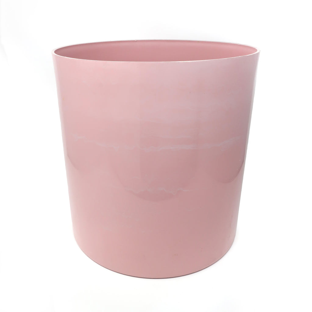 Large Vintage Pink Kartell Trash Can or Planter