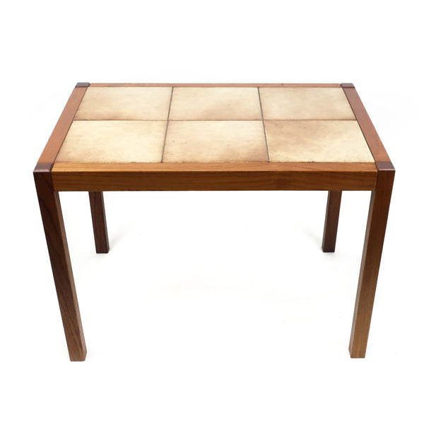 Danish Modern Teak and Tile Side Table