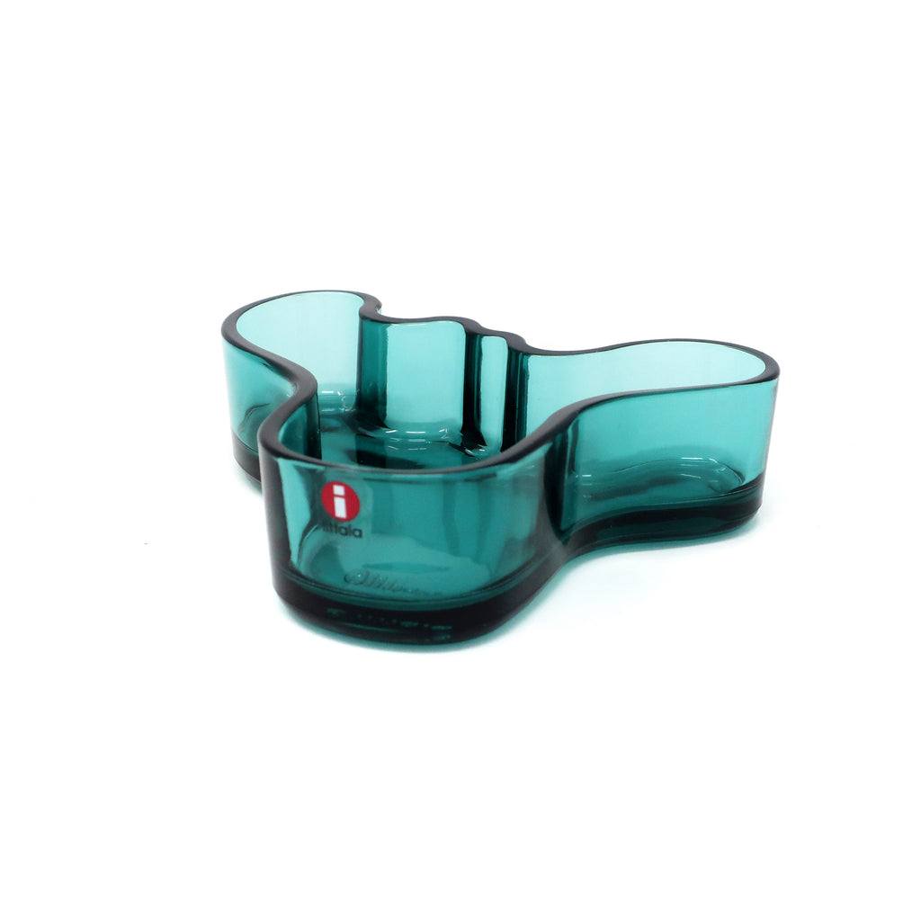 Blue Glass Dish by Alvar Aalto for Iittala