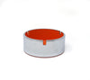 Orange Isamu Kenmochi Plastic and Chrome Ashtray