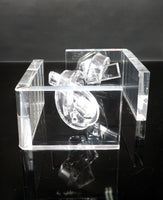 Hollywood Regency Knotted Lucite Bookends