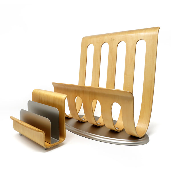 Michael Graves Bentwood Letter Organizer and Magazine Rack